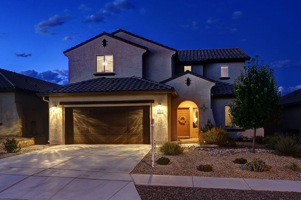 Located in The Boulders, find great xeriscaped home with curb appeal!  As you enter the tiled foyer, notice the light bright natural lighting.  You will find an optional study or living space.  Walk to the left to find the laundry room, powder room, and entrance to the 2.5 tandem garage.  Continue back into the Great room with gas log fireplace, raised ceilings & open to dining area & kitchen -granite counter tops, breakfast nook, gas range, stainless steel appliances & pantry storage.  Main level master bedroom with sliding private door to master bathroom- double sinks & upgraded tiled shower & walk in closet!  Upgraded Upstairs rail leads to an open loft area w/3 bedrooms and 2 full bathrooms!  The backyard offers a covered patio, outdoor kitchen, hot tub & low maintenance landscaping.