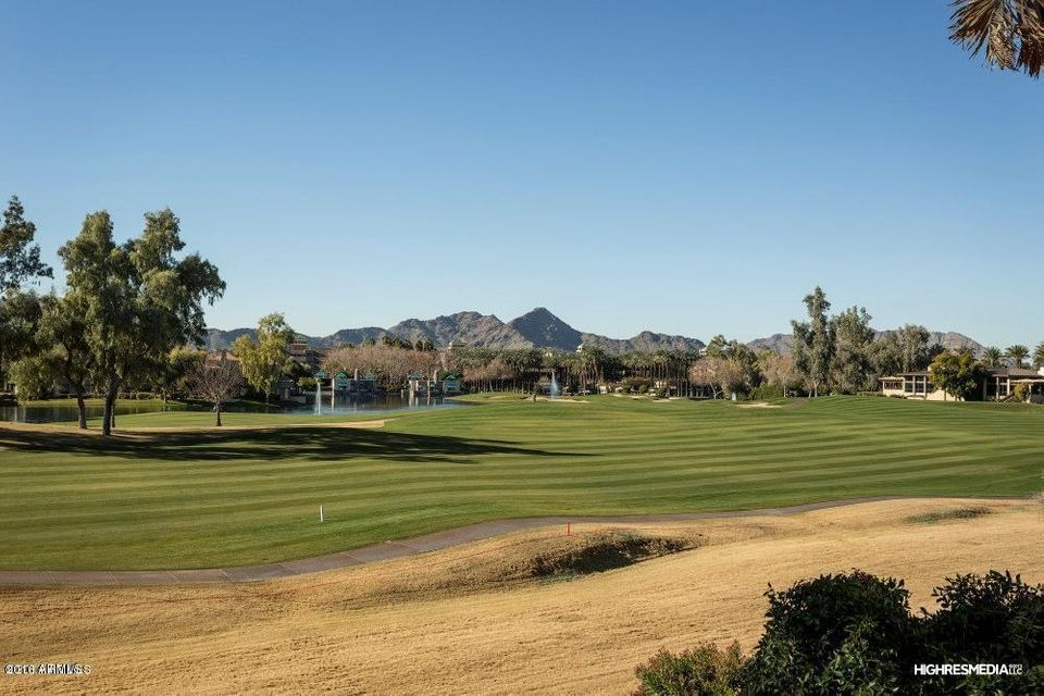 This is arguably the greatest and best panoramic view of the Gainey Ranch Golf Course. Direct picture perfect views of The Gainey Hyatt Hotel, Camelback Mountain and Mummy Mountain. This is an end unit with a courtyard entry. Only 10 steps lead you up to this 3 bedroom, 2 bathroom home. The master bedroom floorplan allows you to wake up every morning to this unparalleled view. We have pulled all flooring out to offer you an allowance to pick out the flooring of your choice. As a designer, I can assist your client with choices and samples. The new paint color will exactly match 7222 E. Gainey Ranch Rd. #126. See closed listing and photos. I will also be available to assist you and your client to make any other changes or remodeling after close of escrow. See Golf Cottages #9 and #13.