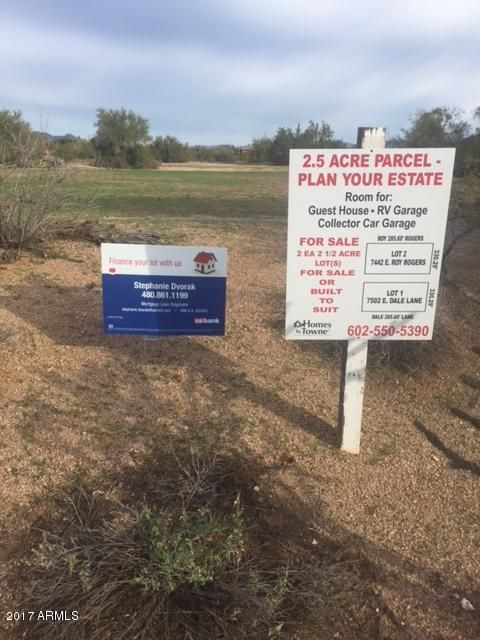 7442 E Dale Lane -- Lot 0, Scottsdale, AZ 85262