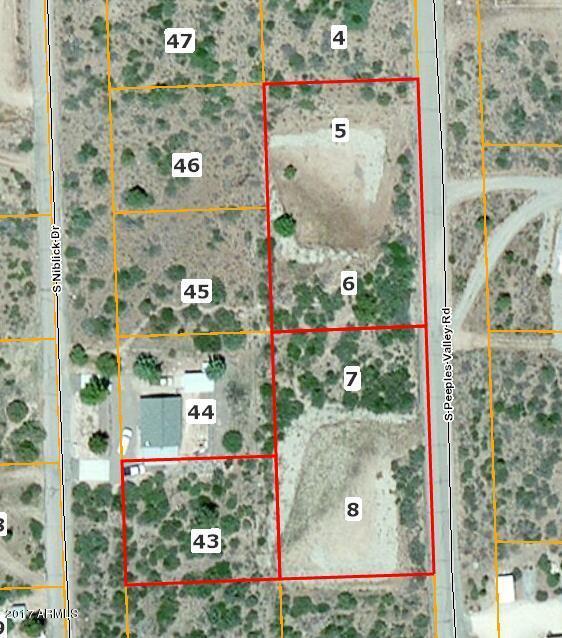18084 S Peeples Valley Road Lot 5-6-7-8-43, Peeples Valley, AZ 86332