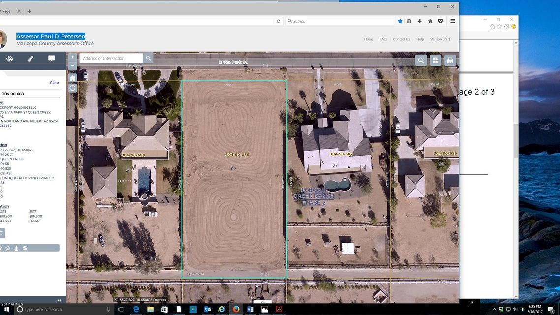 19675 E VIA PARK Street Lot 28, Queen Creek, AZ 85142