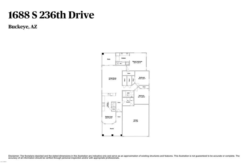 1688 S 236TH Drive Buckeye, AZ 85326 - MLS #: 5638425
