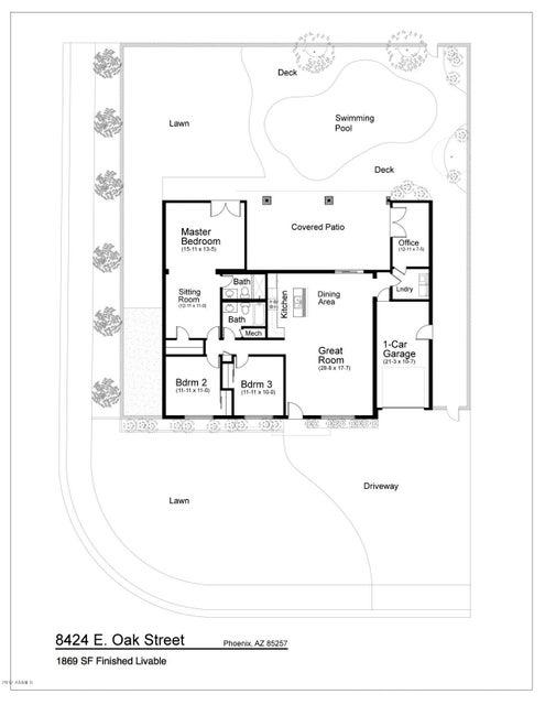 MLS 5638649 8424 E OAK Street, Scottsdale, AZ 85257 Scottsdale AZ Scottsdale Estates