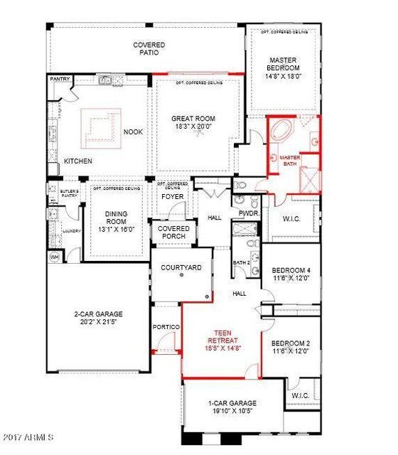 MLS 5675774 7642 S QUINN Avenue, Gilbert, AZ Gilbert AZ Three Bedroom