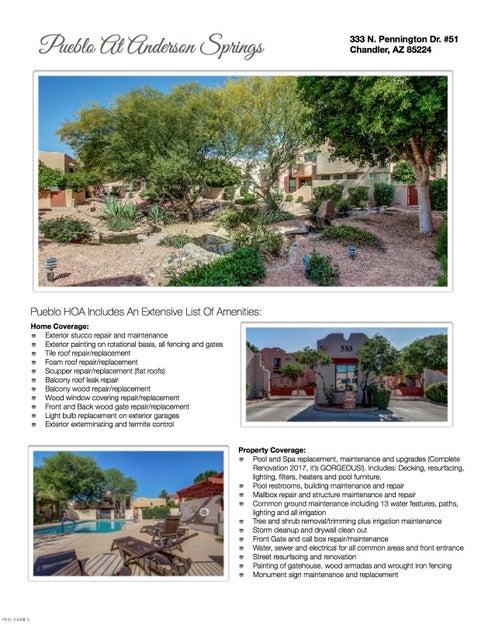 MLS 5590194 333 N PENNINGTON Drive Unit 51, Chandler, AZ Condos