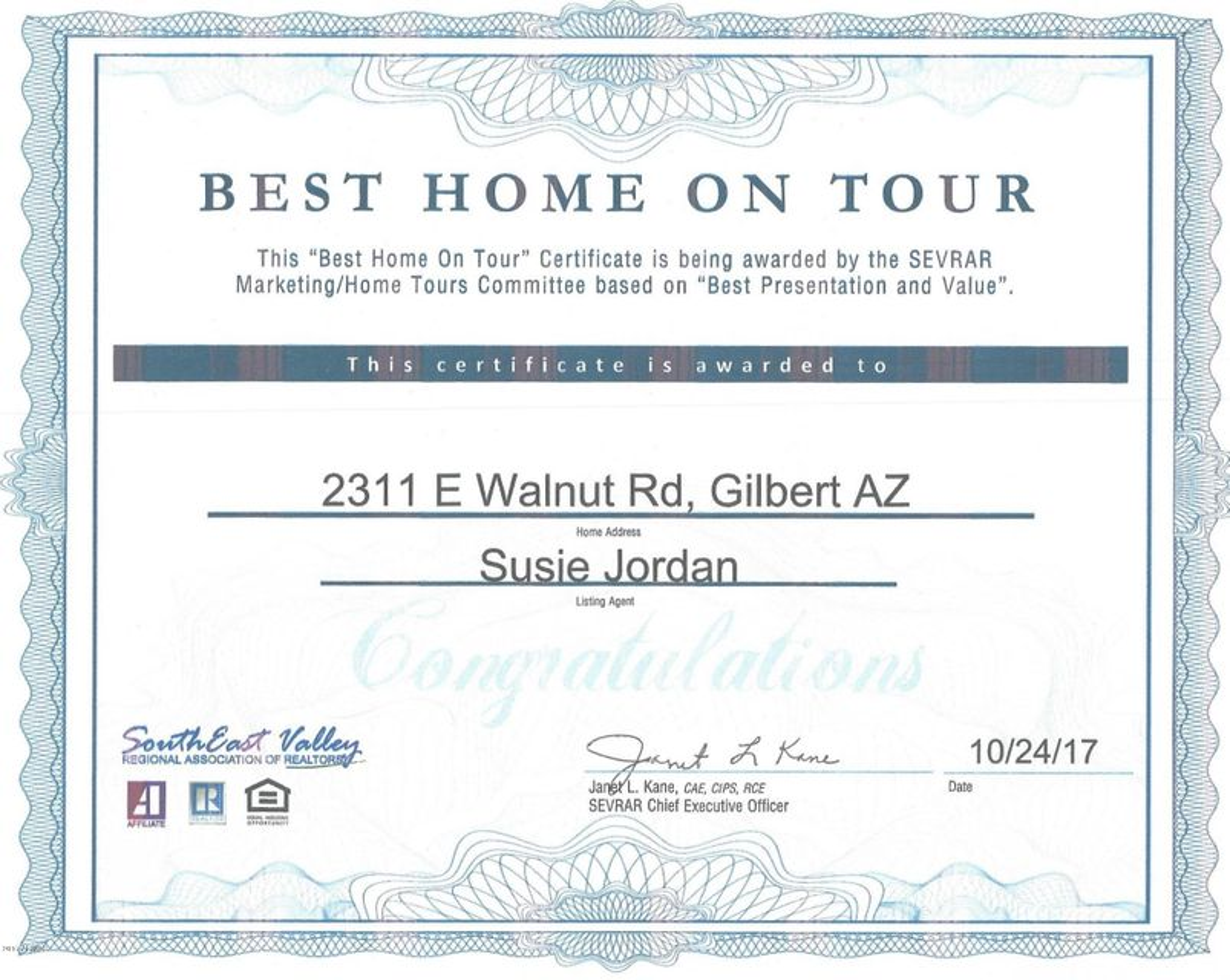 2311 E WALNUT Road Gilbert, AZ 85298 - MLS #: 5670300