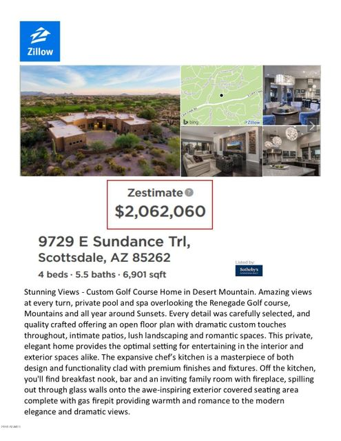 9729 E SUNDANCE Trail Scottsdale, AZ 85262 - MLS #: 5681374