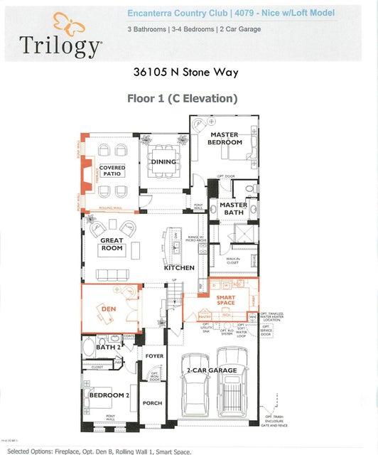 MLS 5713061 36105 N STONE Way, San Tan Valley, AZ 85140 San Tan Valley AZ Three Bedroom