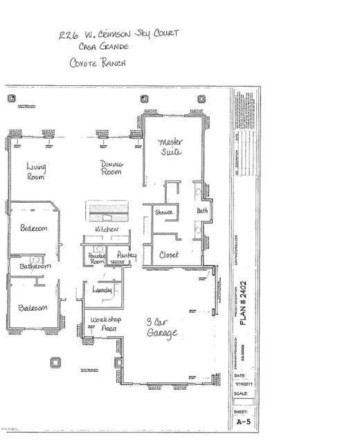 MLS 5701113 226 W CRIMSON SKY Court, Casa Grande, AZ 85122 Casa Grande AZ Three Bedroom