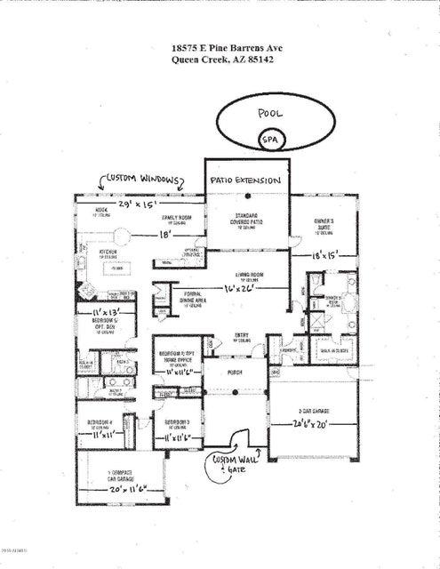 MLS 5740496 18575 E PINE BARRENS Avenue, Queen Creek, AZ 85142 Queen Creek AZ Sossaman Estates