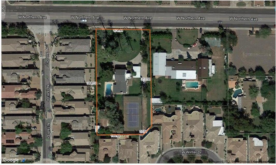 MLS 5756093 1545 W NORTHERN Avenue, Phoenix, AZ 85021 Phoenix AZ Metes And Bounds