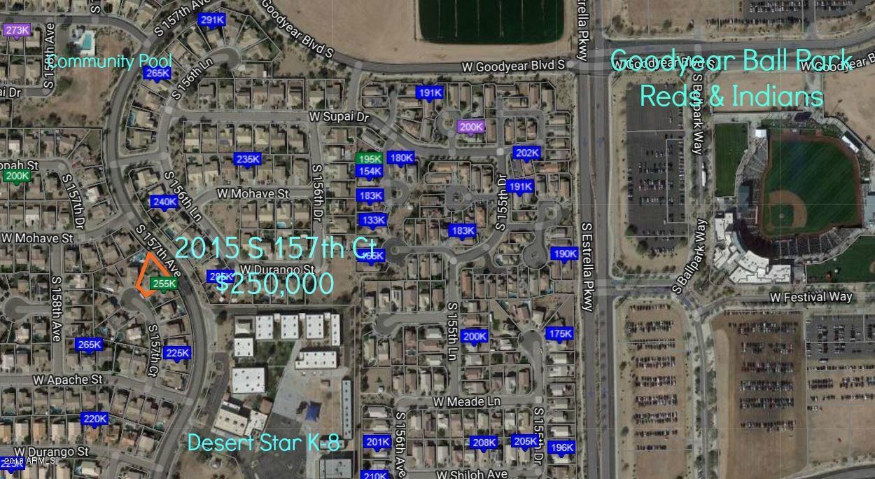 MLS 5781445 2015 S 157TH Court, Goodyear, AZ 85338 Goodyear AZ Estrella Vista