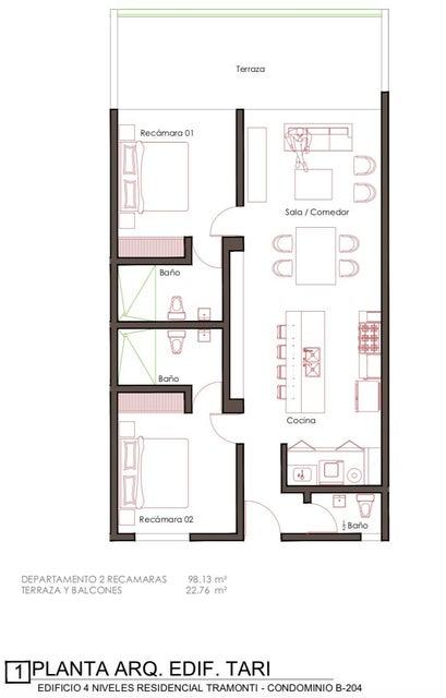 Tramonti 2 Bedroom-14