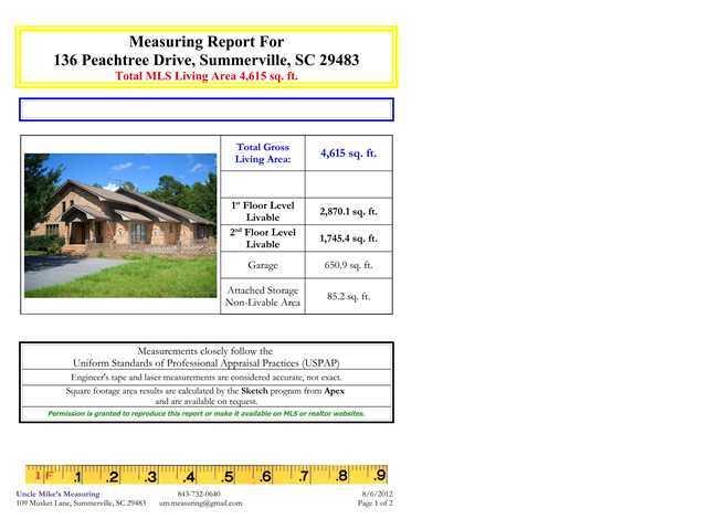 136  Peachtree Drive Summerville, SC 29483