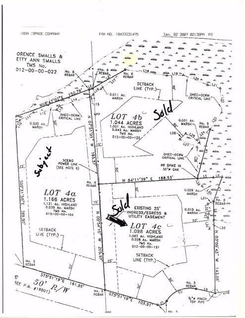 4-A  Crooked Creek Lane Edisto Island, SC 29438