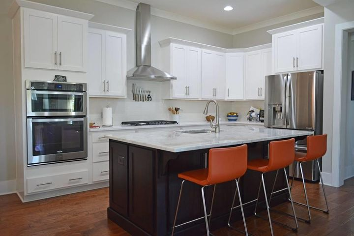 The Gourmet Kitchen Has A Large Carrera Marble Island, 42u201d Cabinetry, A  5 Burner Gas Cook Top And Stainless Steel Appliance. Right Off The Kitchen  Is A ...