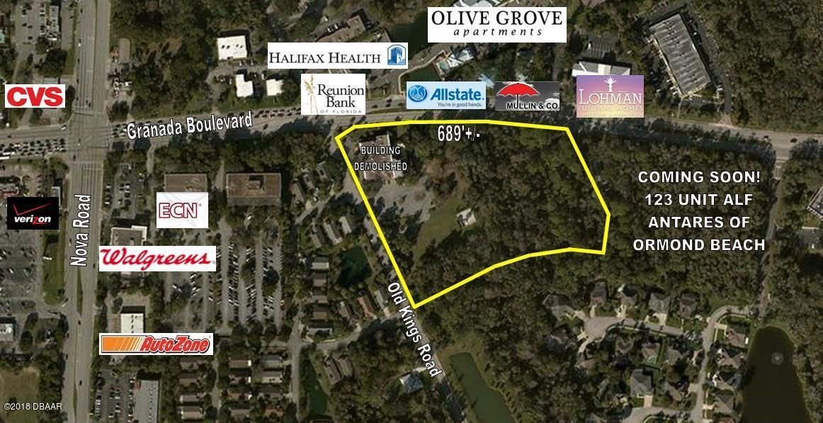 1 W Granada Boulevard, Ormond Beach, Florida 0 Bedroom as one of Homes & Land Real Estate