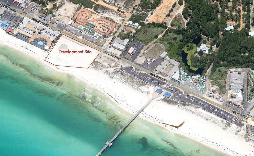 Incredible development opportunity! Property is zoned commercial high intensity within the FBO4 (Front Beach Overlay) district. This will allow for apx. 15 stories and  260+ units with the ability to potentially increase density with incentives provided for the city. This ~3.65 Acre Gulf front commercial parcel on Front Beach Road offers ~450 feet of Gulf frontage. This is one of the largest developments on the market in Northwest Florida. This property is conveniently located next to the County Pier and several restaurants within walking distance. The popular Pier Park Mall is just 3.5 miles west offering 900,000 sq. ft. entertainment, restaurants, and shopping. The location is just 14 miles south of Northwest Florida Beaches International Airport, making this a convenient destination. There is current commercial expansion within Bay and Walton counties, giving this parcel a lot of potential.