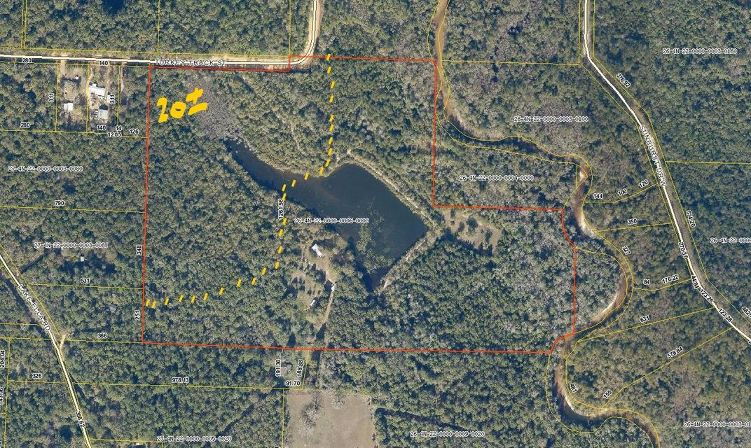 Photo of home for sale at 20 Acres Turkey Track Rd, Crestview FL