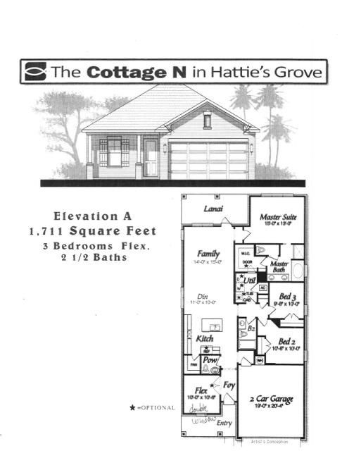 A 3 Bedroom 2 Bedroom Hattie's Grove Home