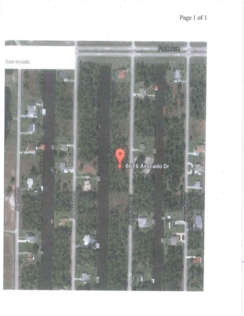 Single Family Home for Sale at 6616 Avocado Drive 6616 Avocado Drive Indian Lake Estates, Florida 33855 United States