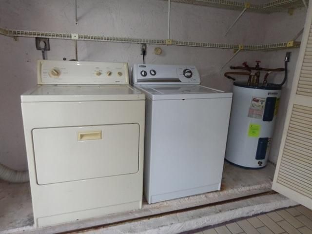 Washer-Dryer in Utility Closet