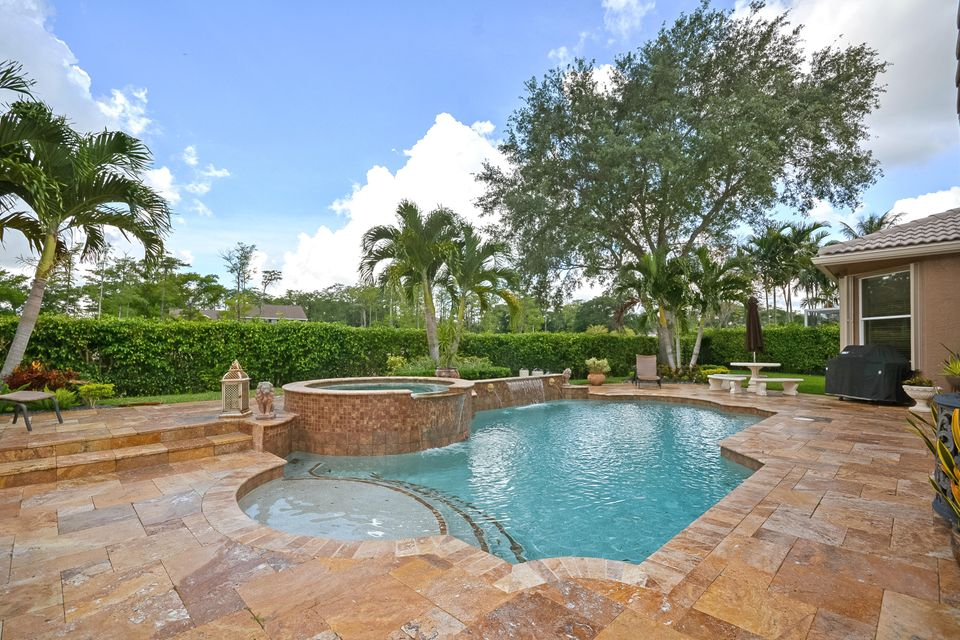 Marble Patio and Salt Water Pool