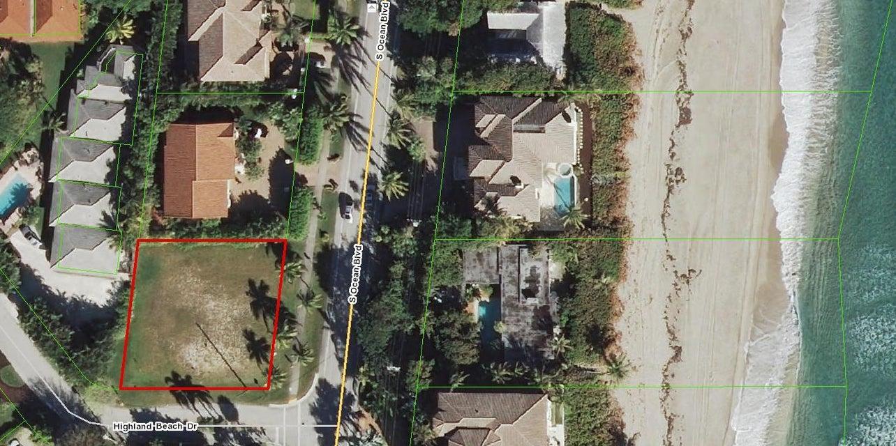 Land für Verkauf beim 4112 S Ocean Boulevard 4112 S Ocean Boulevard Highland Beach, Florida 33487 Vereinigte Staaten