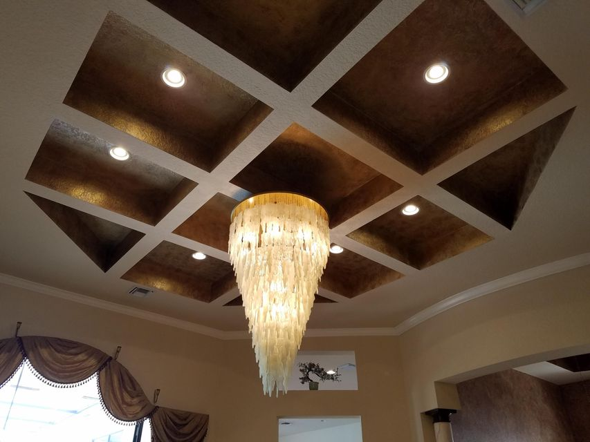 Living Room Ceiling & Chandelier