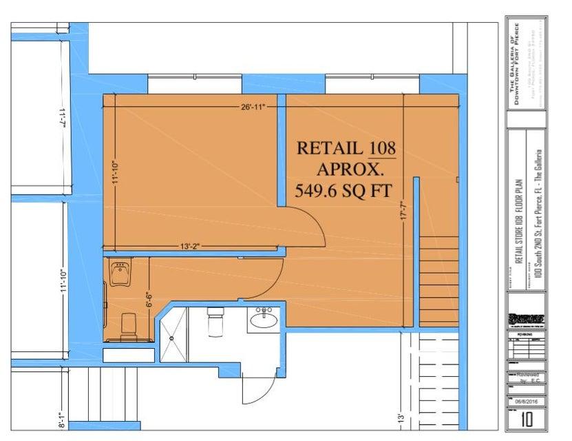 Comercial / Industrial por un Alquiler en 108 S 2nd Street 108 S 2nd Street Fort Pierce, Florida 34950 Estados Unidos