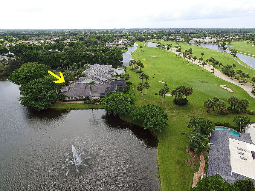 aerial long golf view