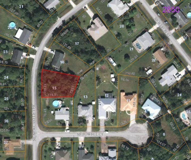 Land for Sale at 2249 SE Newcastle Terrace 2249 SE Newcastle Terrace Port St. Lucie, Florida 34952 United States
