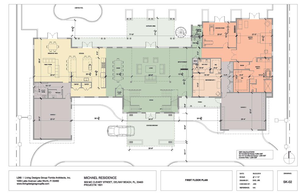 Fully Rendered First Floor Plan