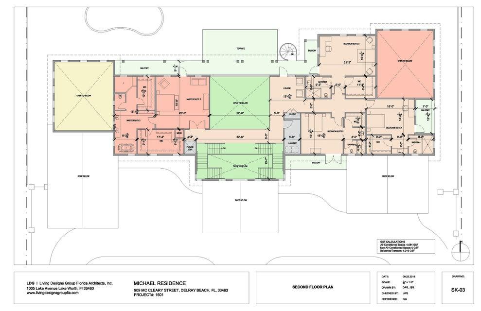 Fully Rendered Second Floor Plan