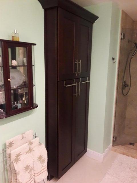 Master bath linen closet