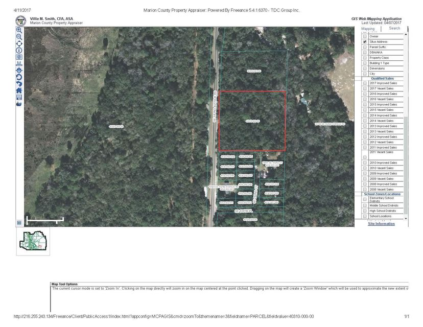 Land for Sale at 000 SE 182nd Avenue Road 000 SE 182nd Avenue Road Oklawaha, Florida 32179 United States