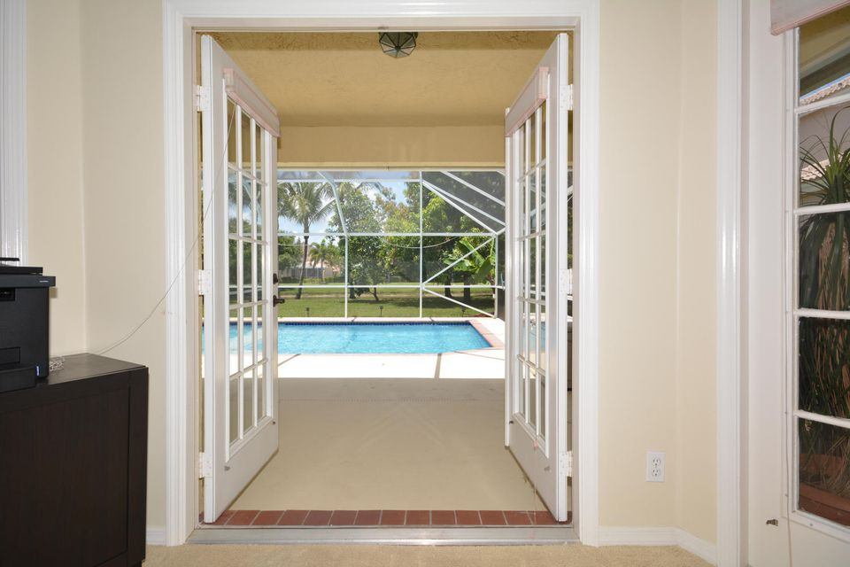 master french doors to pool