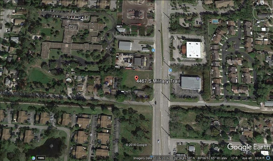 Commercial Land for Sale at 4467 S Military Trail 4467 S Military Trail Lake Worth, Florida 33463 United States