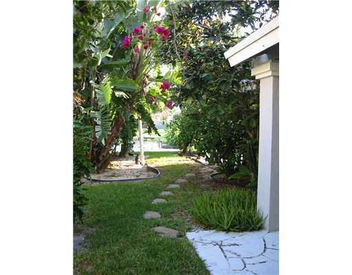 Path to back patio/lagoon