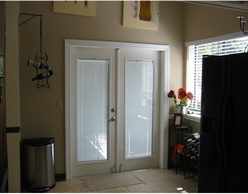 French doors to covered patio