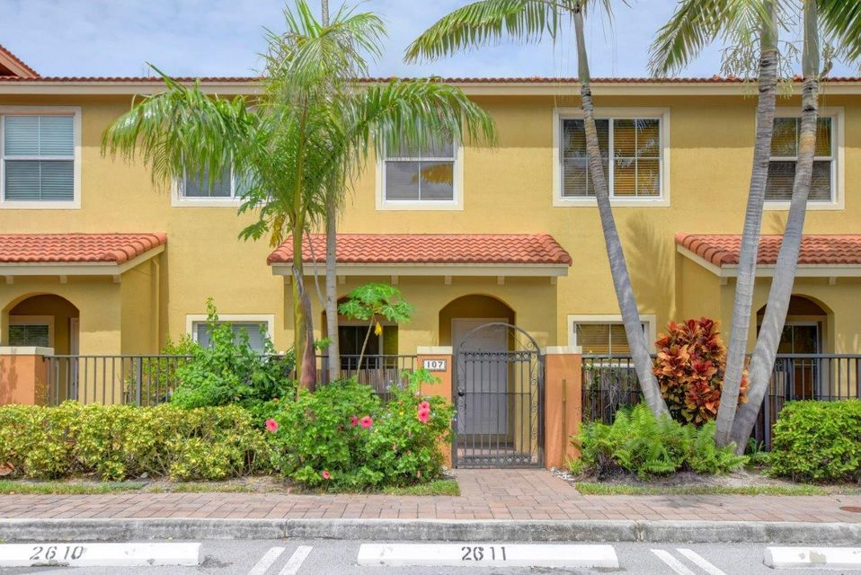 Adorable, Mediterranean style, 2 bedroom, 2.5 bathroom townhome in a GATED community in Central Boynton Beach. Located on the Delray border, Monterey is close to the beach, I-95,shopping, restaurants,city parks, tennis and more. This townhome has private front patio with gate, tiled first floor, clean carpet on the second, granite and stainless steel kitchen and feels new! Will not last. Ready to move-in. Call us today for a showing!