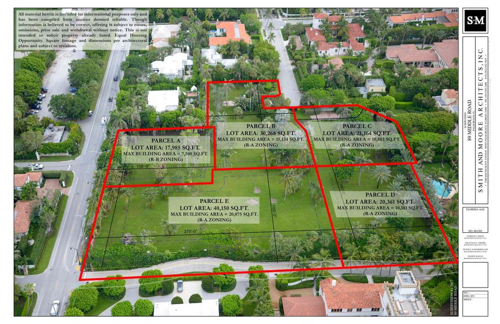 Terreno por un Venta en Lot E 89 Middle Road Lot E 89 Middle Road Palm Beach, Florida 33480 Estados Unidos