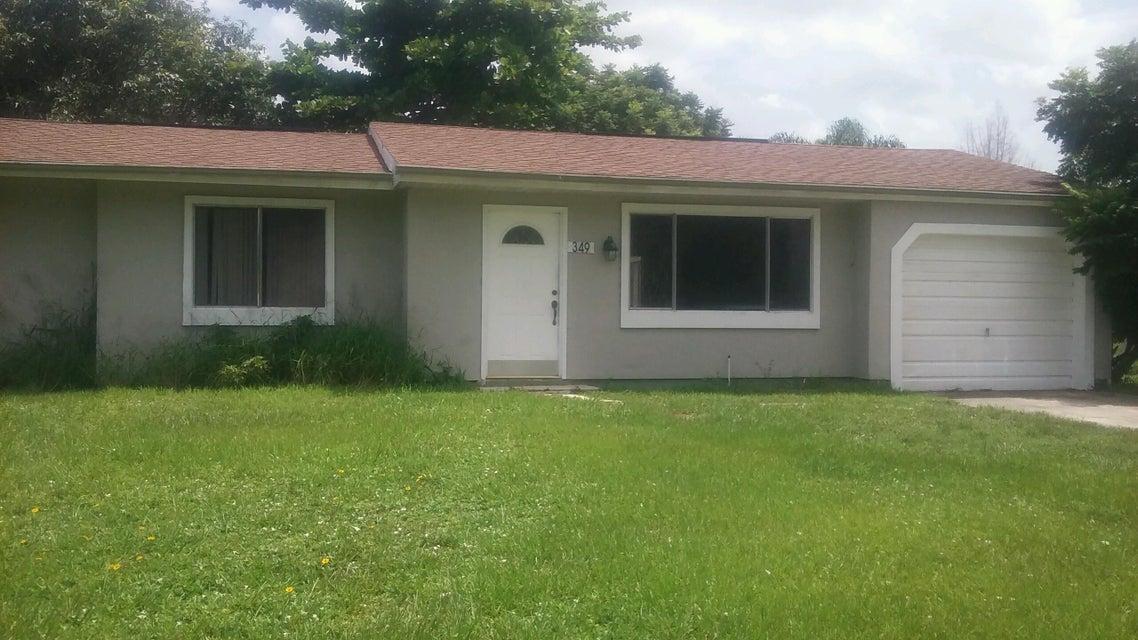 Einfamilienhaus für Verkauf beim 349 SW Tulip Boulevard Port St. Lucie, Florida 34953 Vereinigte Staaten
