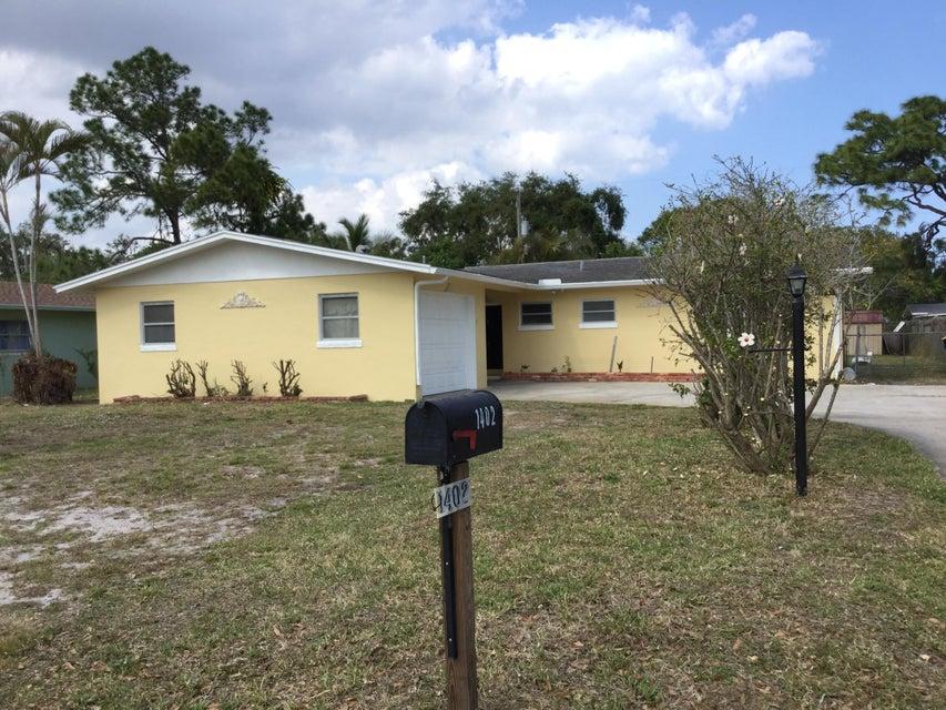 واحد منزل الأسرة للـ Sale في 1402 Kentucky Avenue 1402 Kentucky Avenue Fort Pierce, Florida 34950 United States