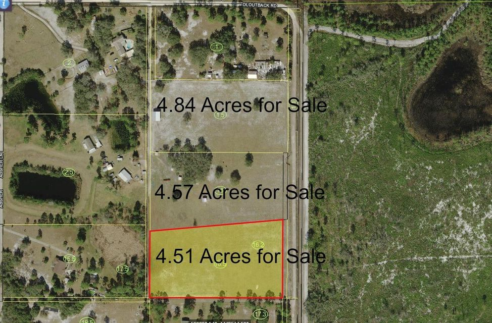 Land for Sale at 1050 Outback Road 1050 Outback Road St. Cloud, Florida 34771 United States