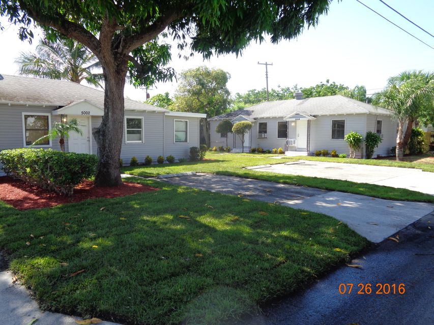 Quadraplex pour l Vente à 5000 Webster Avenue 5000 Webster Avenue West Palm Beach, Florida 33405 États-Unis