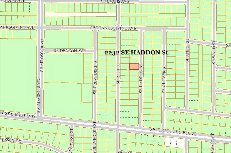 Land für Verkauf beim 2232 SE Haddon Street 2232 SE Haddon Street Port St. Lucie, Florida 34984 Vereinigte Staaten