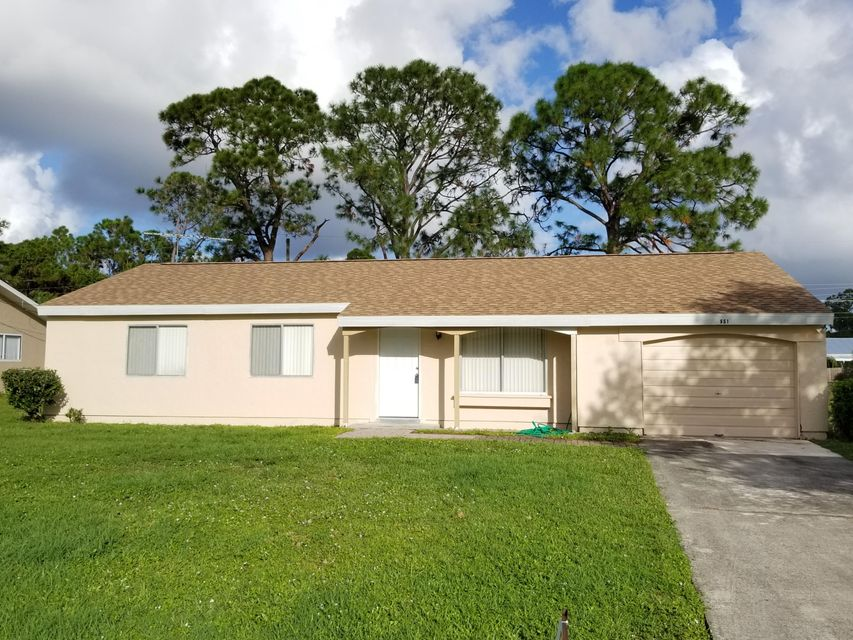 Rentals for Rent at 651 NW Sharpe Street 651 NW Sharpe Street Port St. Lucie, Florida 34983 United States