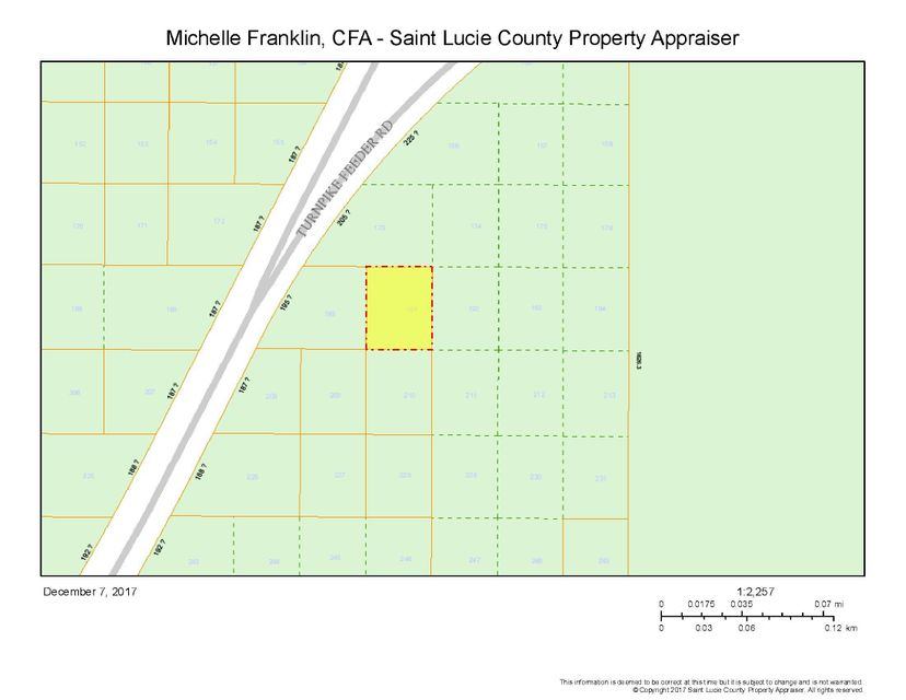 Land for Sale at 0 Turnpike Feeder Road 0 Turnpike Feeder Road Fort Pierce, Florida 34951 United States