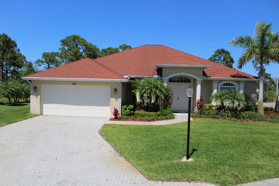 Single Family Home for Sale at 281 SW Vista Lake Drive Drive 281 SW Vista Lake Drive Drive Port St. Lucie, Florida 34953 United States